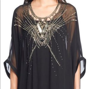 DVF Clare Beaded Caftan Gown